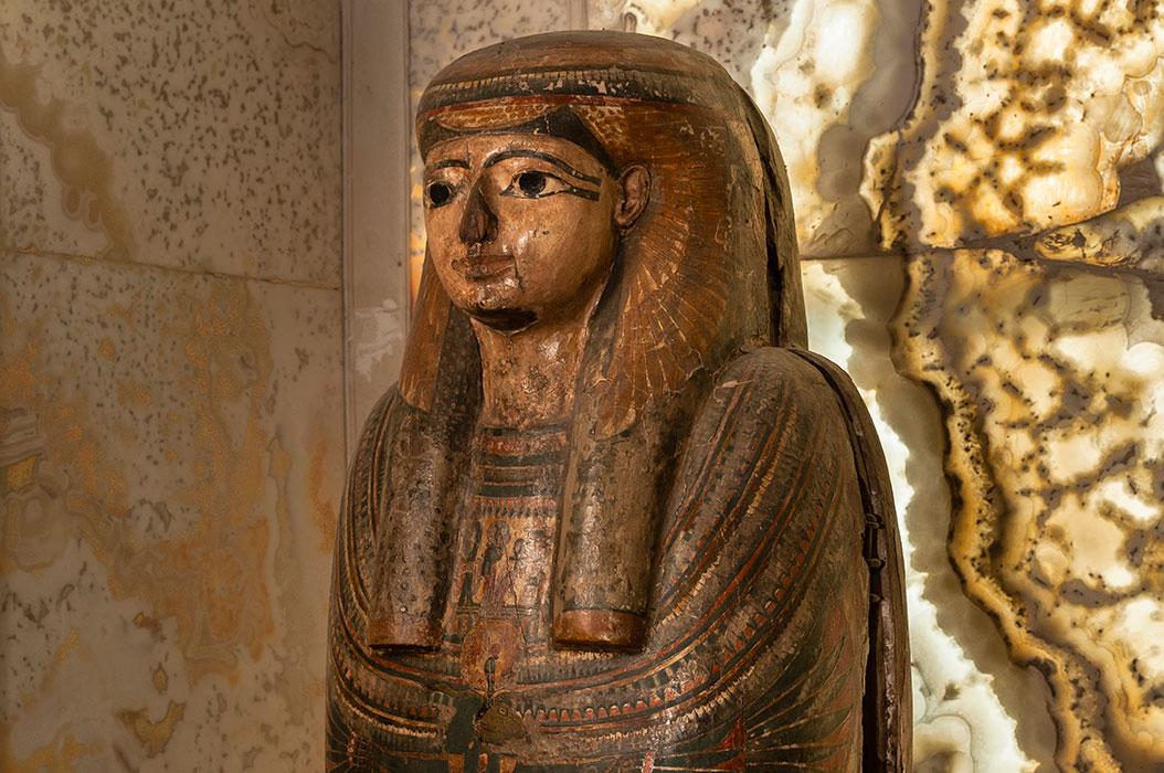 Collezione egizia, sarcofago policromo