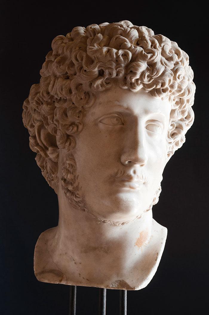 Testa dell'imperatore Adriano, Copia Lombardo Tullio 1460-1520 ca