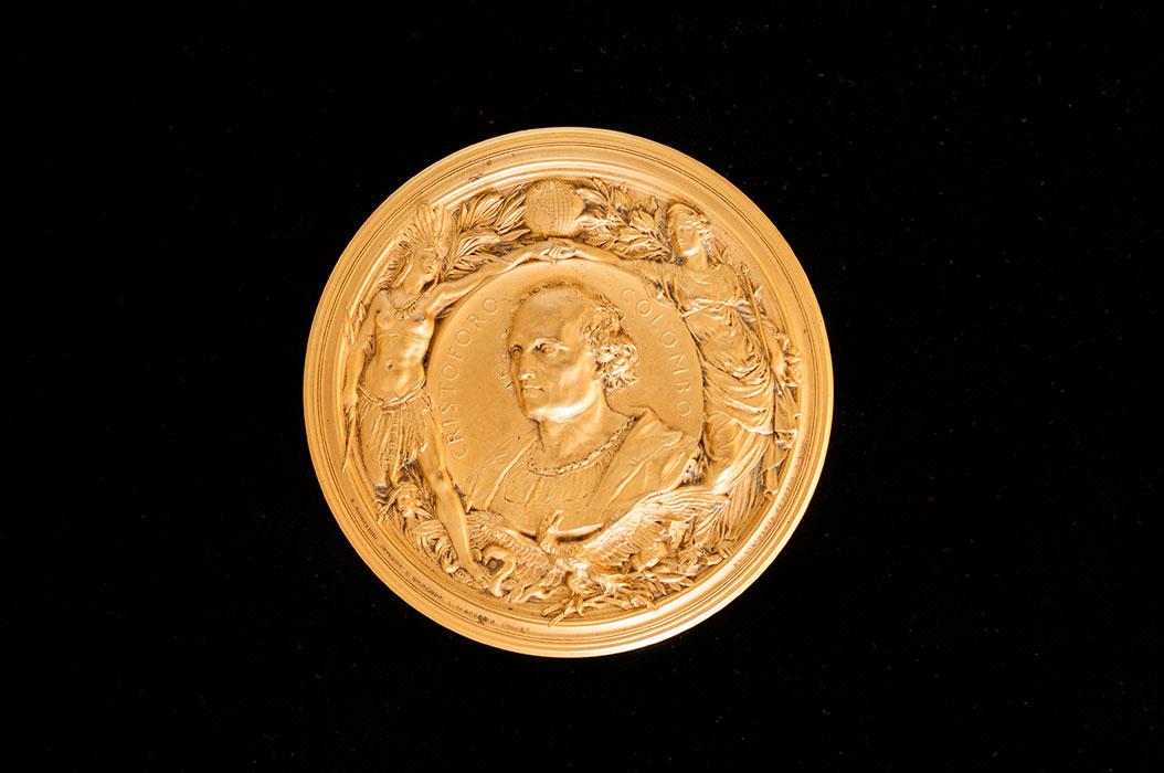 Medaglia celebrativa, dedicata a Cristoforo Colombo