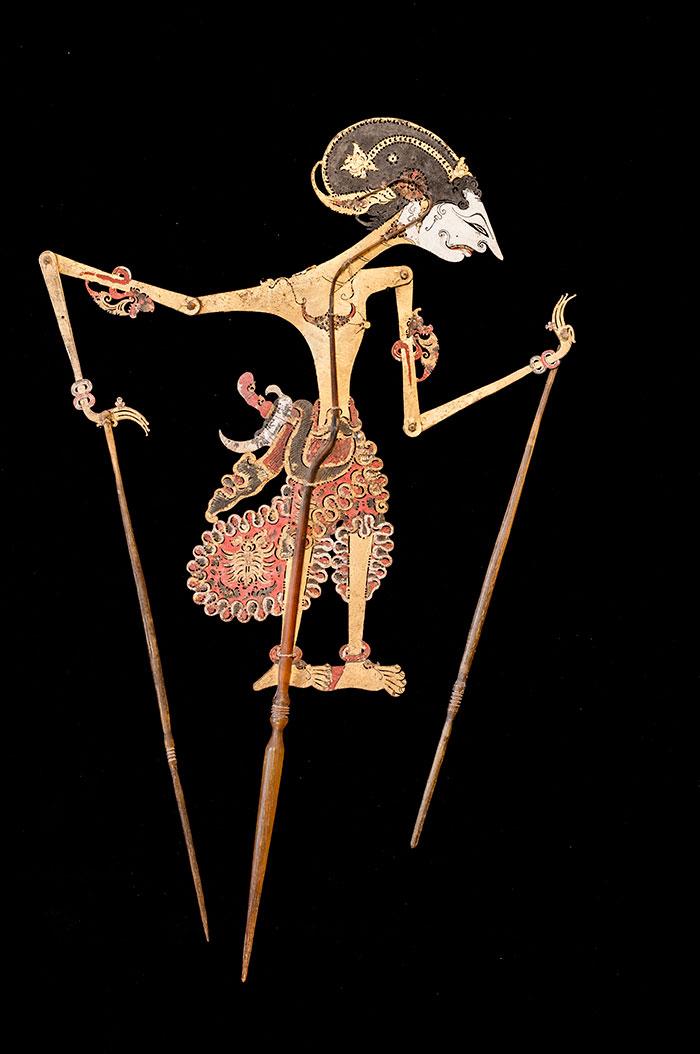 Wayang kulit, marionetta per il teatro delle ombre, XIX sec., Giava