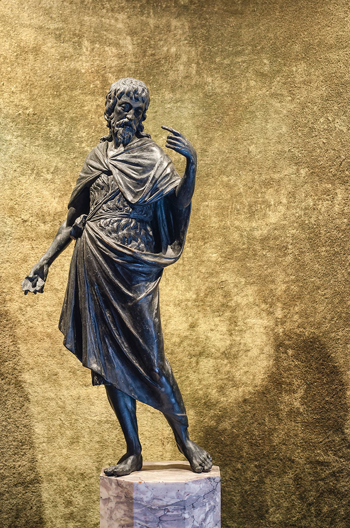 Giovanni Battista, bronzo, scuola veneta