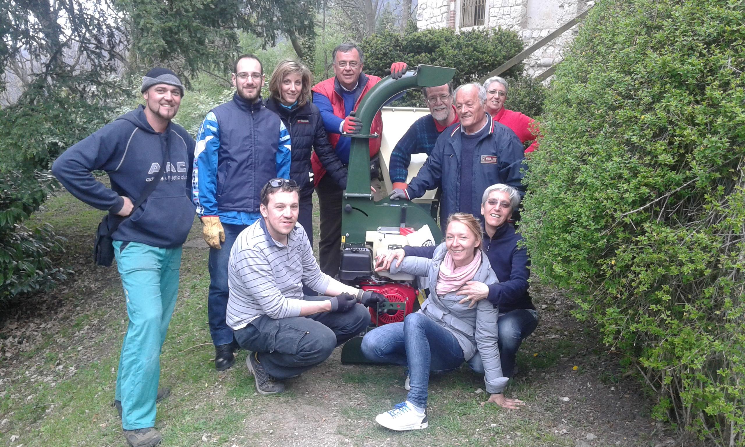 Il Grean team Pogliaghi con Olga