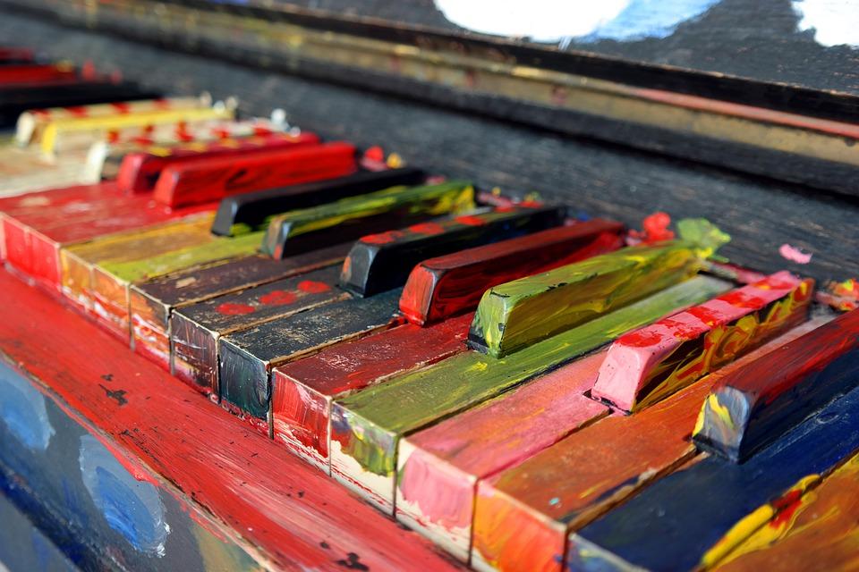 pianoforte colorato